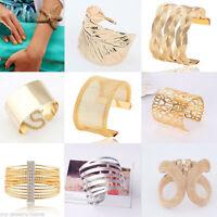Vintage Women Fashion Lots Style Gold Plated Bangle Punk Cuff Bracelet Jewelry