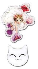 **Legit** Accel World Chiyuri Catgirl & Cat Authentic Anime Metal Pin Set #50075