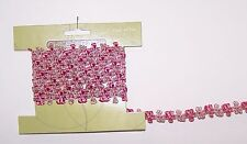 2 yards Dusty Rose Flower Trim Sewing Fabric Craft Supply Embellishment