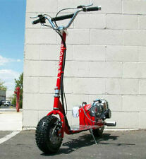 New Red GO FAST 49CC GAS RACE SCOOTER Motor CHROME Engine mo-ped ScooterX