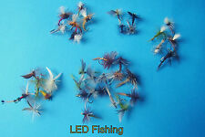 36 X ASSORTED KLINKHAMMER - STD DRY FLIES - PARACHUTE FISHING FLIES