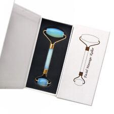 Opal Crystal Facial Jade Roller Massage Tool Crystal Massager Treatment & Box