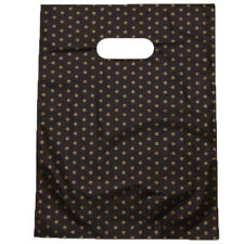 100pcs HOT Star Printed Black Background Plastic Carrier Bags Store Packing D