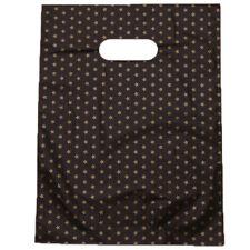 100pcs Wholesale Star Patterns Plastic Gift Carrier Bag Black Background Pouch J