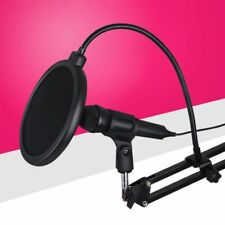 Anti Spray Cover Recording Studio Microphone Pop Filter Mic Wind Screen Shield