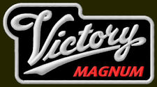 "VICTORY MAGNUM EMBROIDERED PATCH ~4-1/2""x 2-1/2"" BORDADO AUFNÄHER MOTORCYCLES V2"