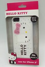 Sanrio Hello Kitty Case for iPhone 5/5S White with Pink Bling Bow
