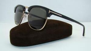 Tom Ford Henry 0248 05N Black & Gold Sunglasses Sonnenbrille Green Lens Size 51