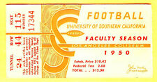 MY LAST ONE! 1950 USC FOOTBALL SEAS.PASS/TICKET-GOOD FOR ALL GMS-GREAT GRAPHICS!