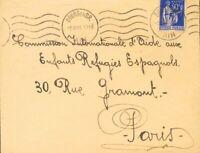 Spanien Krieg Civil. Campo Von Refugiados. Umschlag. 1940. 90 Cts Blau Von