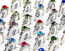 Wholesale 20Pcs lot Mixed CZ Crystal women Rings Elegant Party Jewellery Bulks