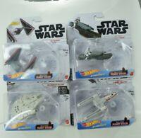 Hot Wheels Star Wars Tie Dagger, Treadspeeder, Millennium Falcon, Y-Wing Fighter