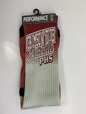 Crimson Tide Pottsville PHS Socks 1 Pair Men's 6-8 Women's 6-9 Red White Cream