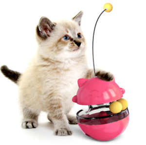 Cat Tumbler play ball slow Food Dispenser kitten interactive Treat Puzzle toy