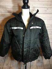 Yamaha Mens Medium Black Jacket Dawstring Snap Button Zip Snowmobile