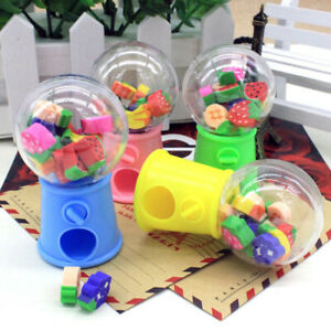 Cute Pencil Creative Stationery Retractable Rubber Stick Erasers for Kids Four Pack 4 PCS by ZXSWEET