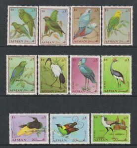 Ajman - 1966, Oiseaux, 1r X 11 Timbres - MNH