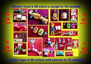 SORPRESINE COMPONIBILI KINDER K 96 IN 78 VARIANTI ENTRA E SCEGLI selects in 78 v