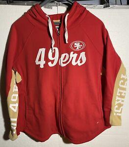 San Francisco 49ers NFL Women's G-III Hands/High Front Zip Hooded Sweatshirt XL