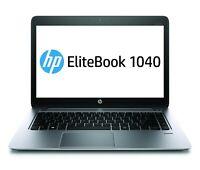 "HP EliteBook Folio 1040 G2 I5-5200U 2.2 GHz 8GB 256GB SSD 14"" Windows 10 Pro"