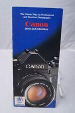 Canon 35mm cameras customer sales brochure 1978