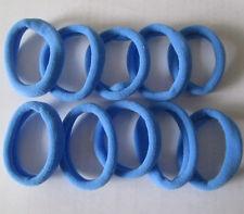 sky blue 10pcs Girls elastic hair ties band rope ponytail bracelets FF8033