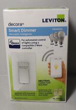 Leviton Decora Smart Dimmer Switch Z Wave Controller Neutral Connect DZMX1 White