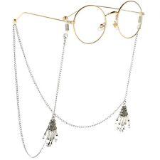 New Skull Hand Silver Eyeglass Cord Glasses Eyewear Spectacles Neck Chain Holder