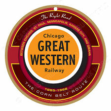 Chicago Great Western Railway Logo Wood Plaque-Sign /Man Cave/Train & Kids Room