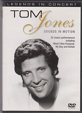TOM JONES SOUNDS IN MOTION NEW DVD LEGENDS IN CONCERT 22 GREATEST HITS BEST OF