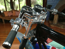 Triumph Bonneville T140 Instrument bracket & fork caps tach speedo mount plate