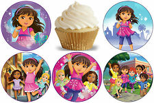 24 Muffin/ Cupcake Dora et ses Amis Gateau Disque Azyme Comestible Anniversaire