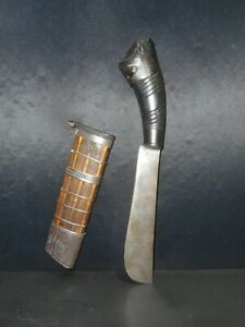 OLD TRADITIONAL INDONESIAN BENDO KNIFE, XX° CENTURY, JAVA, LITTLE CURRENT