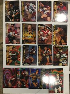 NRL 1996 Series 1 Dynamic Trade Cards Complete Base And Subsets 300 Cards