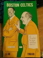 1968-69 BOSTON CELTICS MEDIA GUIDE YEARBOOK BILL RUSSELL 1968. Shipped with USPS