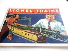 LIONEL PRE-WAR 1934 BLACK & WHITE CATALOG - REPRODUCTION NEW- W13