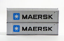Athearn HO Scale Blue Box 40' Containers - Maersk