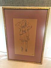Vintage Original PENCIL DRAWING sketch art artist BOETTCHER 1974 St. Louis MO