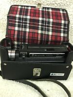 Bell and Howell Autoload Focus-Matic Movie Camera Model 493 Black & Flannel Case