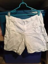 White Stag 100% Cotton White Cargo Shorts with Comfort Waist