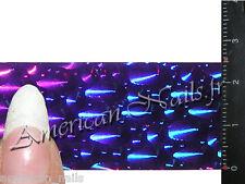 ROULEAU Foils Nail Art Foil ongle Violet Drops Holographique 150 cm