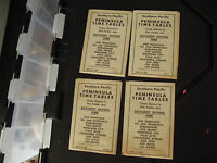 Lot of 4 April 29 1962 Southern Pacific Penninsula Time Tables