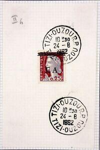Tizi Ouzou On Fragment Algeria EA 1962 Overload Obliterated Gum Origin Y60