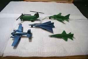 5 ASSORTED VINTAGE MARX 1960's INTERNATIONAL JETPORT AIRCRAFT.