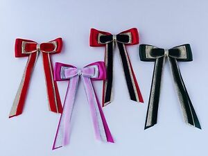 HAIR BOW BY CORNERSTONE BROWBANDS - YOUR COLOUR CHOICE