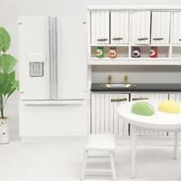 1/12 Miniature  Wooden Refrigerator Dollhouse Model Kitchen Mini Furniture Model