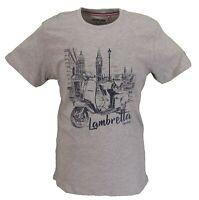 Lambretta Mens Grey London Cityscape 100% Cotton Retro T Shirt