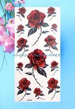 US Seller-rose flower temporary tattoo sticker tattoos fake