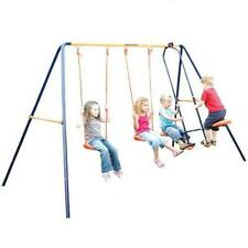 Hedstrom Neptune Double Swing And Glider Childrens Garden Play Set M08601-02