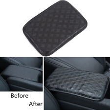 Leather Car SUV Armrest Box Pad Cushion Cover Center Console Armrests Pads Mat